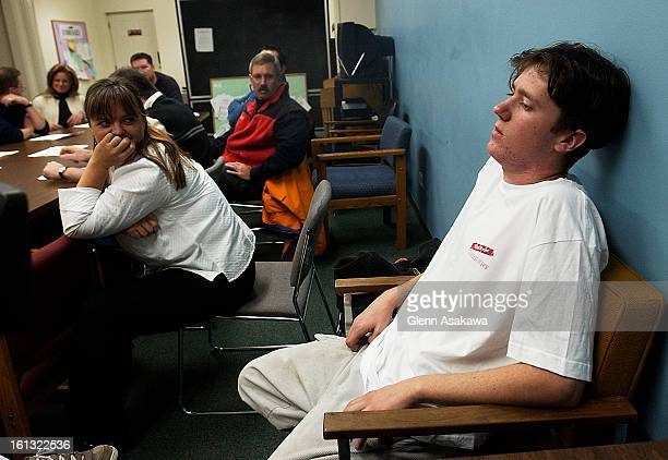 LITTLETON COLORADONOVEMBER 5 2003Tucker <cq> Dean <cq> who has been diagnosed with bipolar and schizoaffective disorder right tells members of law...