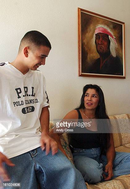 COAUGUST 28TH 2004Franki <cq> Montoya <cq> 16yearsold <cq> a student at West High School <cq> talks with his mother Patricia <cq> Montoya <cq> at his...