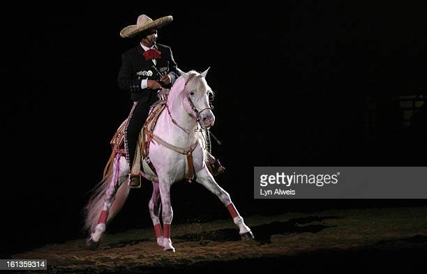 National Western Stock Show Mexican Rodeo Extravaganza Gerardo 'Jerry' Diaz performs the Charro de Corazon a horsemanship presentation during the 230...