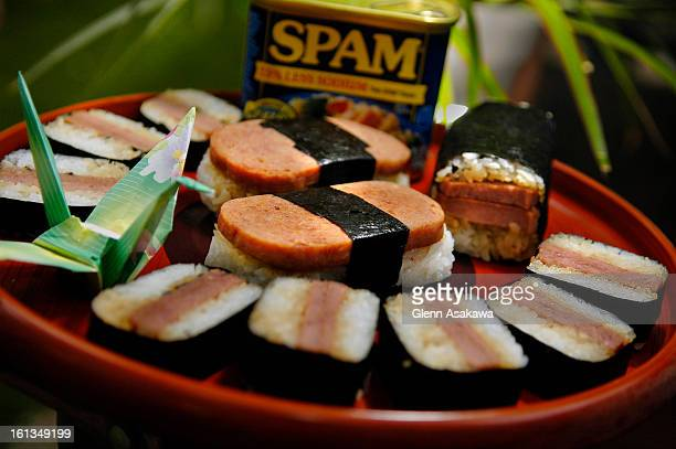 LAFAYETTE COLORADO JUNE 2 2006Spam musubi a common Japanese lunch dish that was created in Hawaii with Spam can make a delicious picnic food