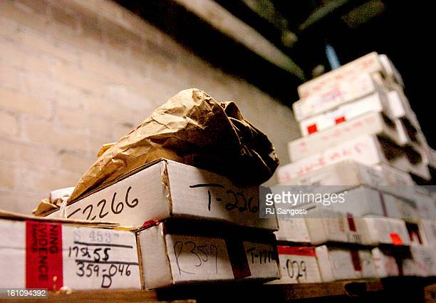 JAN 17 2007Boxes of evidence line the shelves of the courthouse attic in New Orleans La