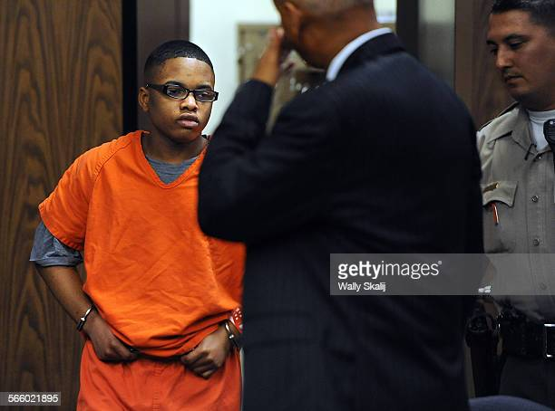 Convicted murderer Donald Ray Dokins walks into the courtroom before sentencing at the Compton Courthouse Friday Dokins a gang member was convicted...