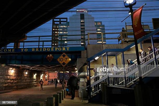 BRIDGEPORT CONNECTICUTOCT 29 2014Bridgeport Connecticut is a transportation hub for the state Commuters arrive by train in downtown Bridgeport at the...