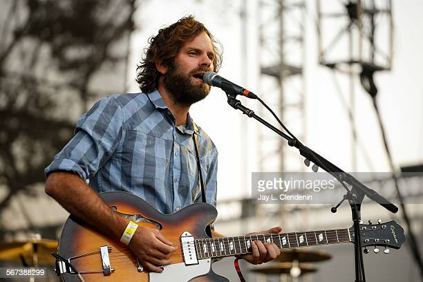 LOS ANGELES CA AUGUST 23 2014Neil Halstead lead singer and guitarist of the band Slowdive performs at the FYF Fest at the LA Sports Arena and...