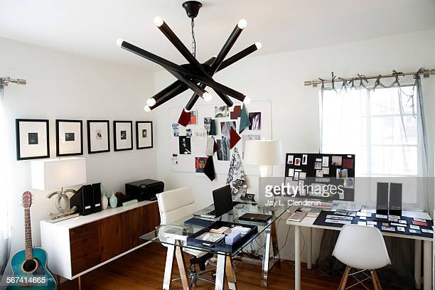 CITY CAFEBRUARY 18 2014With a LEX chandelier by LAbased furniture maker NOIR overhead the Culver City home office space of interior designer Heather...