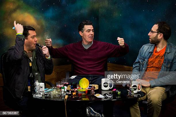 CITY CA JANUARY 12 2015Comedian Doug Benson smokes a marijuana pipe in the middle of taping his weekly show 'Getting Doug With High' with guests Adam...