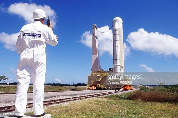 20th Anniversary of Ariane Program Preparation of Ariane 504 Launcher in Kourou French Guiana in November 1999