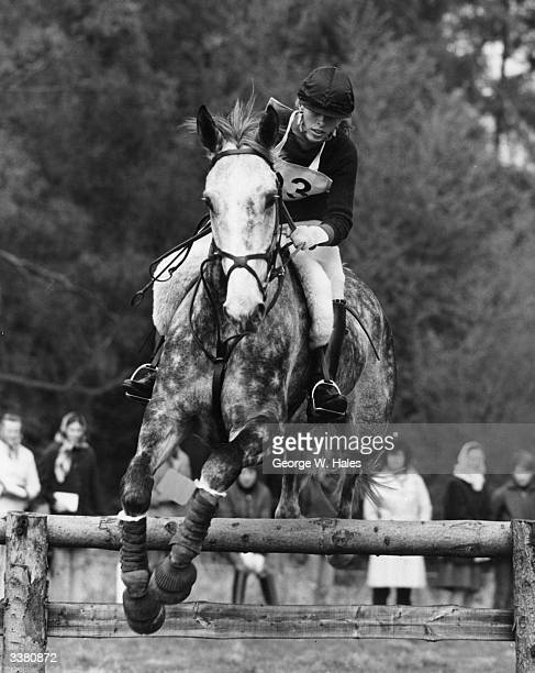 Princess Anne riding 'Columbus' during the Windsor Horse Trials in Windsor Great Park Berkshire