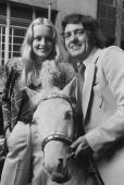Twiggy and Harry H Corbett pose with 'Steve' a white Shetland pony during a press conference at the Prince of Wales Theatre All three will star in...