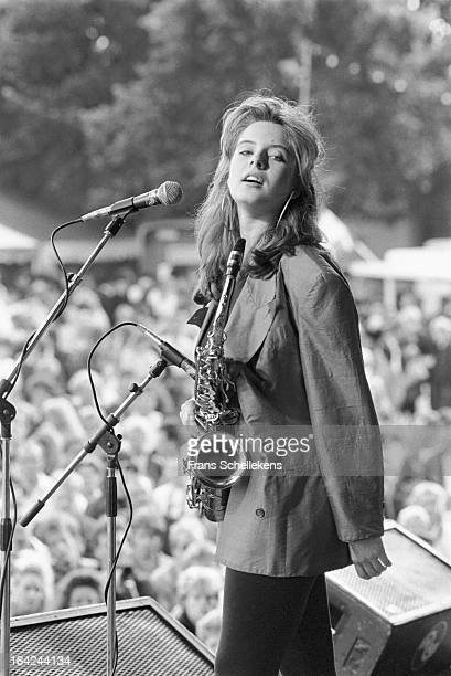 Dutch sax player Candy Dulfer performs at Waterpop festival in Wateringen Netherlands on 20th August 1988