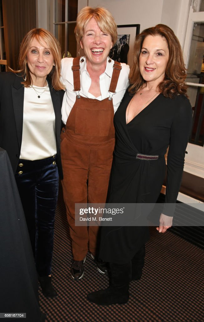 20th Century Fox Film Chairman and CEO Stacey Snider, Emma Thompson and Barbara Broccoli attend a cocktail reception hosted by 20th Century Fox to celebrate The Ghetto Film School at BAFTA Piccadilly on March 21, 2017 in London, England.