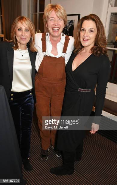 20th Century Fox Film Chairman and CEO Stacey Snider Emma Thompson and Barbara Broccoli attend a cocktail reception hosted by 20th Century Fox to...