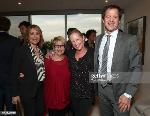 20th Century Fox Film Chairman and CEO Stacey Snider ICM's Toni Howard Claudia Lewis and Doug MacLaren attend Stephen Galloway's 'Leading Lady Sherry...