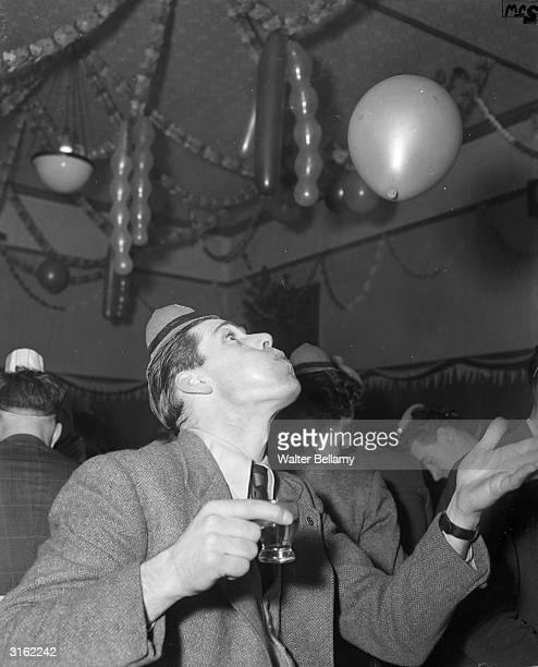 Ted Ditchburn of Tottenham Hotspur FC at a Christmas party