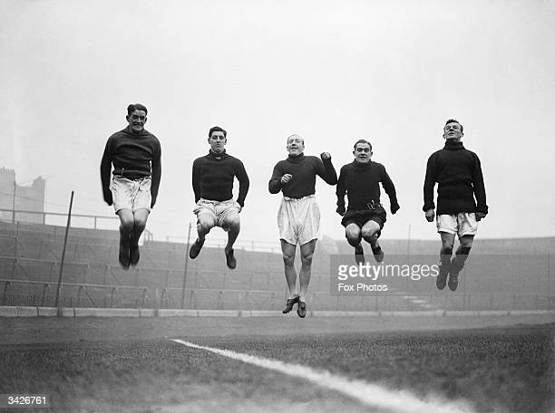George Barber O'Dowd Law Alex Cheyne and Pearson of Chelsea FC make light work of a training session in the run up to their FA Cup tie with Liverpool...