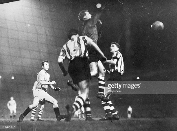 The first goal scored direct from a corner kick by Rennan the Manchester United outsideleft in the team's Fifth Round FA Cup Tie against Sheffield...