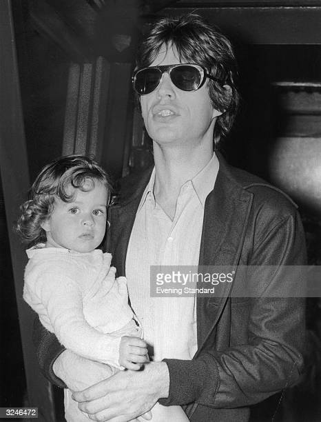 Rolling Stones singer Mick Jagger with his daughter Jade