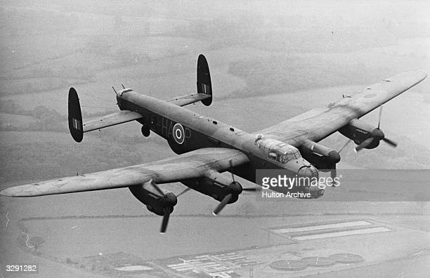 The commemorative flight of a Lancaster Bomber carrying members of the original 617 squadron from Biggin Hill to Lincolnshire to mark the anniversary...