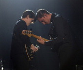 English group The xx perform live on stage at the Heineken Music Hall in Amsterdam Netherlands on 20th May 2013 Left to right guitarist Romy Madley...