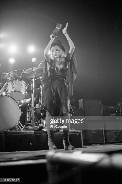 singer Stevie Nicks of BritishAmerican rock band Fleetwood Mac performs live on stage at Yale Coliseum in New Haven Connecticut USA on 20th November...