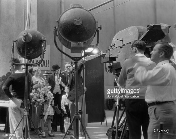 American film director John Ford on the set of 'Flesh'