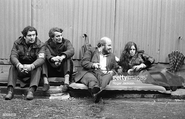 Bernadette Devlin independent MP for MidUlster with three Stormont opposition MP's John Hume Austin Currie and Paddy O'Hanlon continue their twoday...