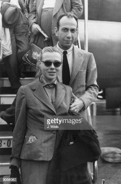 American actor Jose Ferrer arrives at London Airport for the upcoming British premiere of his latest film 'Cyrano de Bergerac'