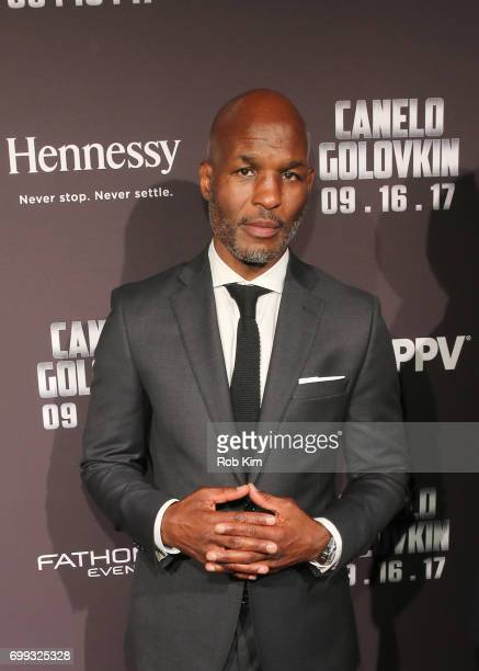20time Middleweight Champion and Future Hall of Famer Bernard Hopkins attends the Canelo vs Golovkin press tour sponsored by Hennessy the world's...