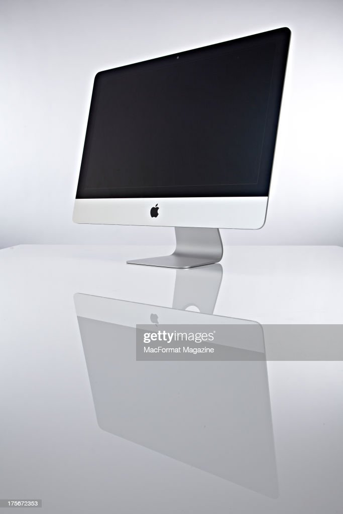 A 21.5-inch iMac computer photographed on a white background, on December 18, 2012.