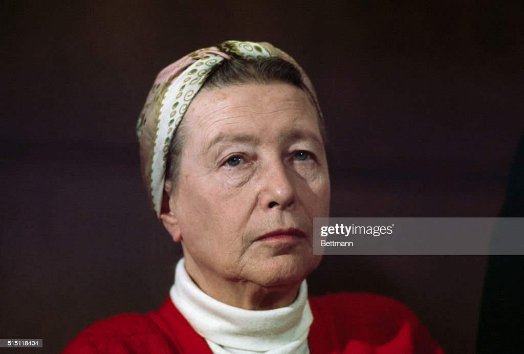 Simone De Beauvoir in a head and shoulders shot.