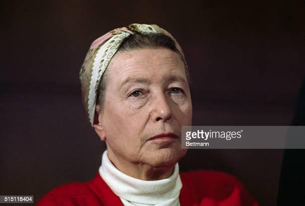 Simone De Beauvoir in a head and shoulders shot