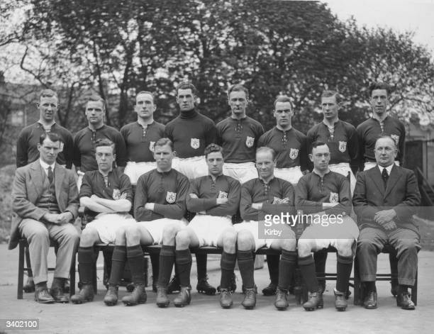 The Arsenal Football team that will play Cardiff City in the FA Cup final From the back row and from left to right are Cope Baker Parker Dan Lewis...