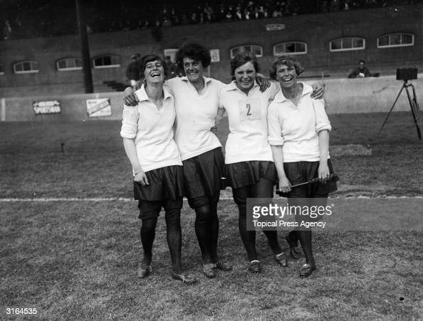 The winning relay team of WRAF's Royal Air Force sports at Stamford Bridge