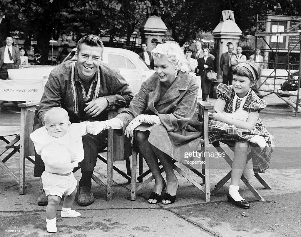 21st August 1967, New York, USA, Jayne Mansfield The American Screen  Actress Who Later Was Killed In A Car Crash In The U,S Is Pictured Sitting  Outside With ...