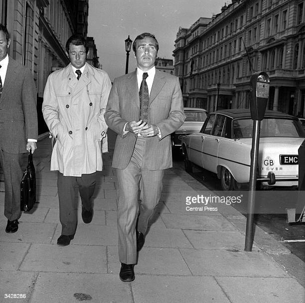Chelsea defender Ron Harris after appearing before a Football Association disciplinary hearing at Lancaster Gate in London to answer a charge of...