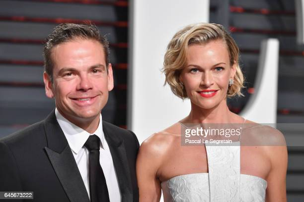 21st Century Fox CEO and the Executive Chairman Lachlan Murdoch and model/actress Sarah Murdoch attends the 2017 Vanity Fair Oscar Party hosted by...