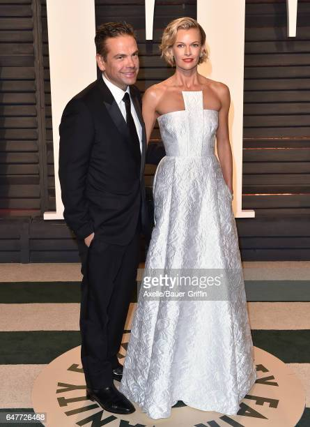 21st Century Fox CEO Lachlan Murdoch and actress Sarah Murdoch arrive at the 2017 Vanity Fair Oscar Party Hosted By Graydon Carter at Wallis...