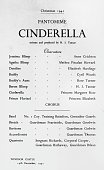 The programme for a royal production of the Christmas pantomime 'Cinderella' at Windsor Castle starring Princess Elizabeth and Princess Margaret Rose...