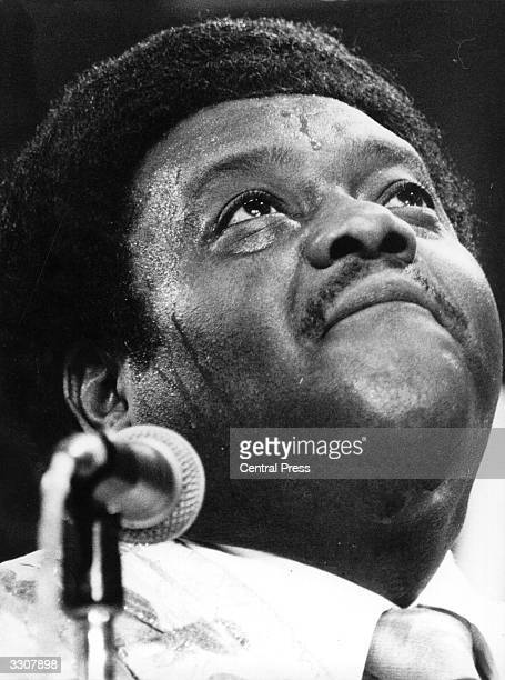 Legendary American jazz pianist and singer Fats Domino performing at the Montreux Jazz Festival