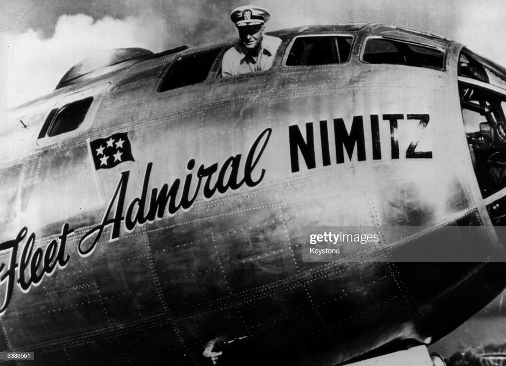 Admiral Chester W Nimitz the Commander in Chief of the US Pacific Fleet He directed the strategy of American forces in the Midway Island victory...