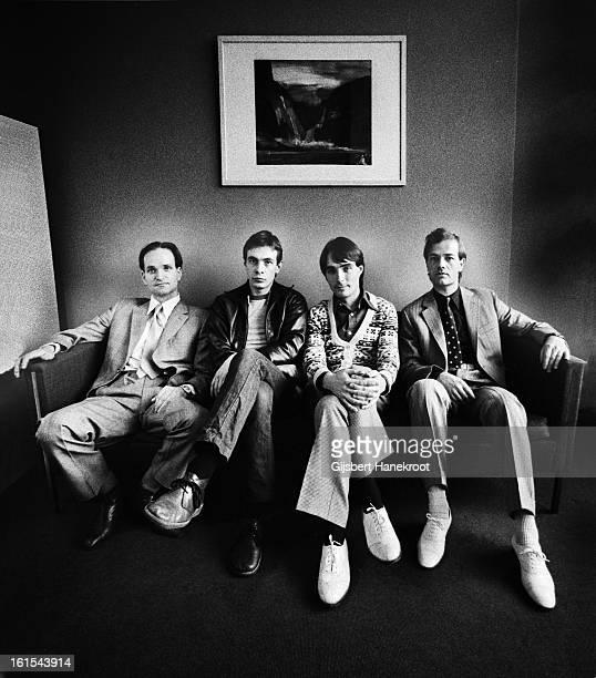 German group Kraftwerk posed in Rotterdam Netherlands on 21st March 1976 LR Florian Schneider Karl Bartos Wolfgang Flur and Ralf Hutter