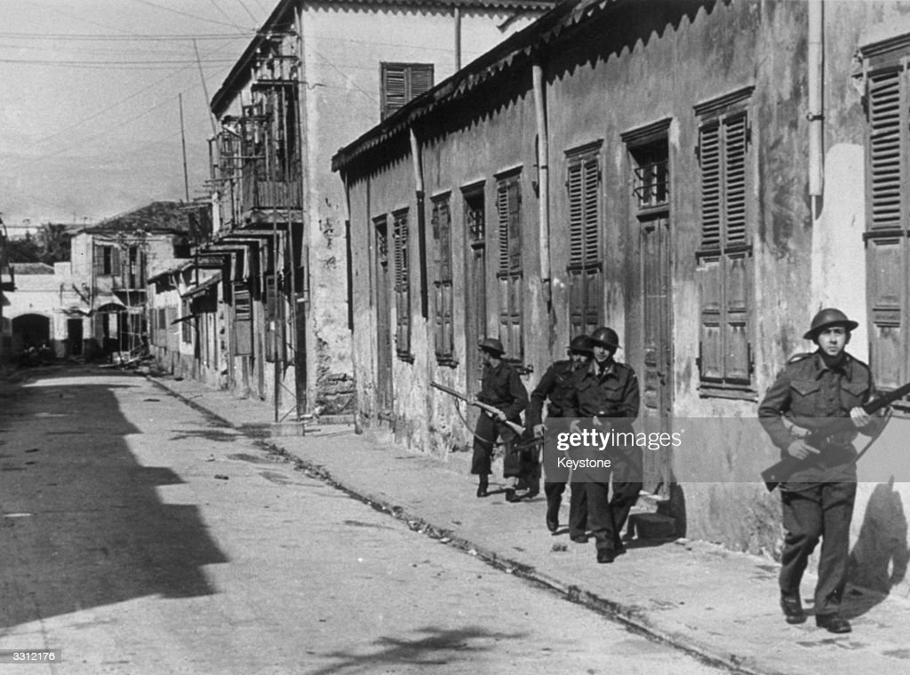 Members of the Jewish Haganah force patrol the streets of Jerusalem during the War of Independence