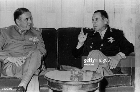General Augusto Pinochet the President of Chile with Juan Peron the Argentinian President in Buenos Aires