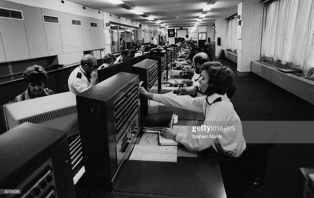 The main switchboard and data link at the Information Room of New Scotland Yard