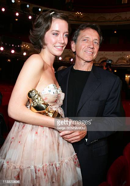 21St Of 'Nuit Des Molieres' In Paris France On May 14 2007 Bernard Giraudeau and daughter Sara