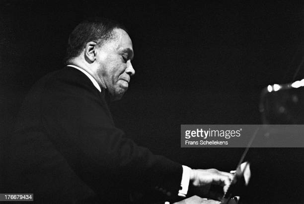 Pianist and member of the Modern Jazz Quartet John Lewis performs at Tuchinsky in Amsterdam Netherlands on 21st February 1989
