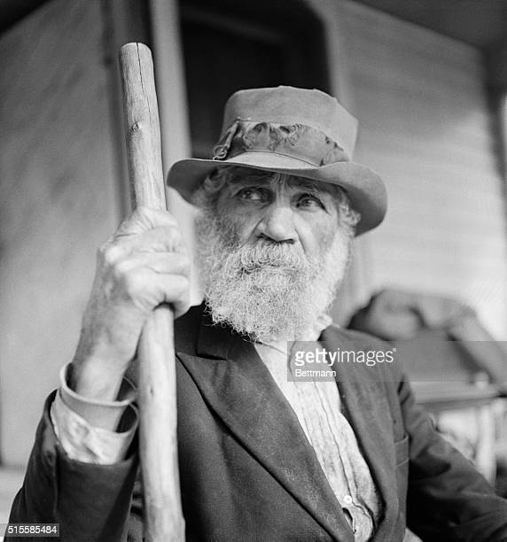 Original caption reads Meet George Davis the patriarch of Uno George was born in 1845 near the site that is now Uno At that time he says there was...