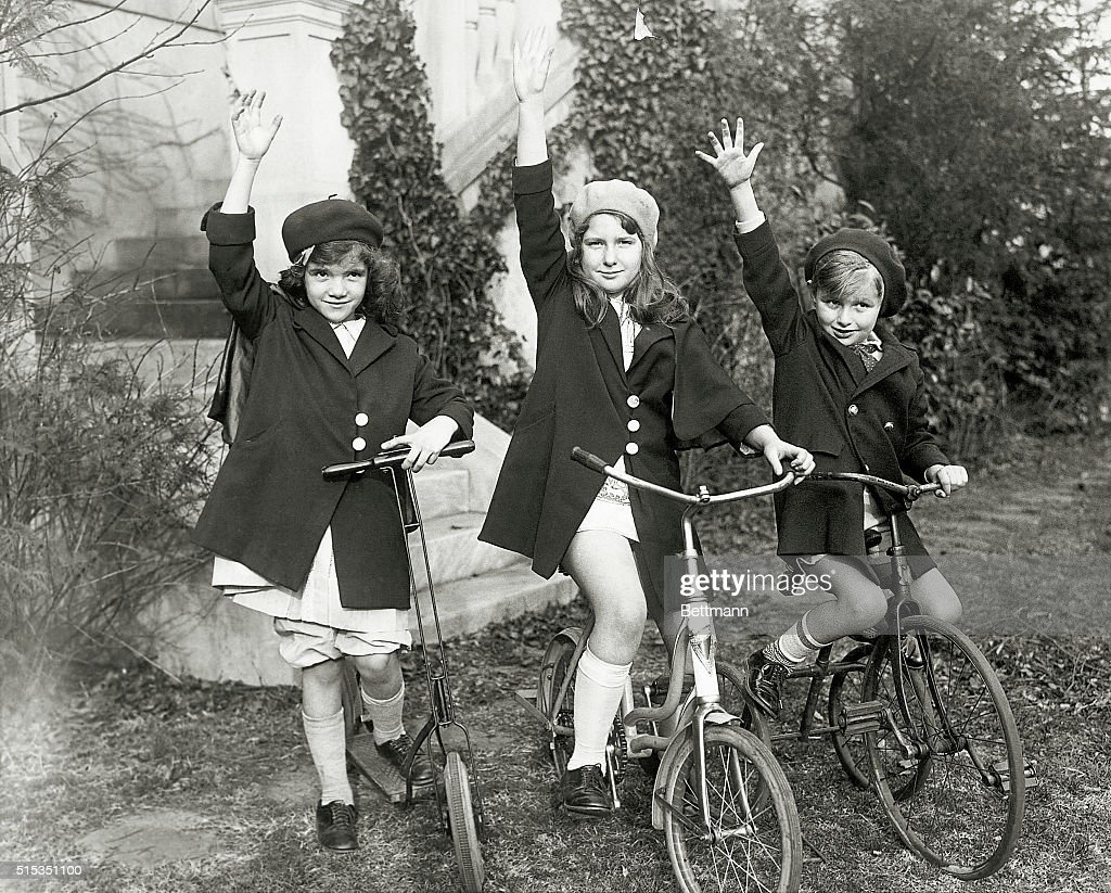 2/23/1930Washington DC The three beautiful children of Secretary of War and Mrs Patrick J Hurley as they were playing on the spacious lawn in front...