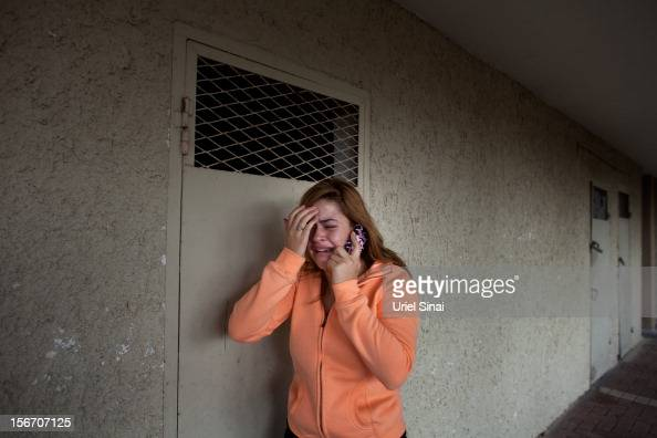22An Israeli youth cries after a rocket was launched from the Gaza Strip on November 19 2012 in Ashkelon Israel According to reports November 19 at...