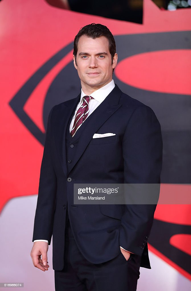 Henry Cavill arrives for the European Premiere of 'Batman V Superman: Dawn Of Justice' at Odeon Leicester Square on March 22, 2016 in London, England.